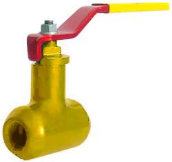 Краны шаровые 11с67п (КЗШС) Ру40(25) муфтовые для газа цельносварные